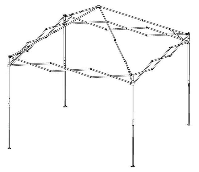 Canopy Tent Pyramid Frame